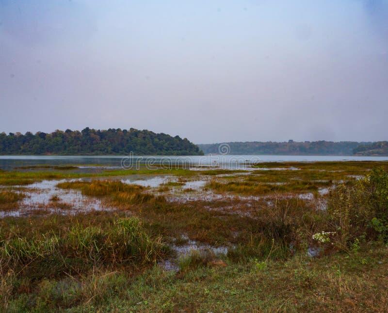 Lago Sasthamkotta foto de stock