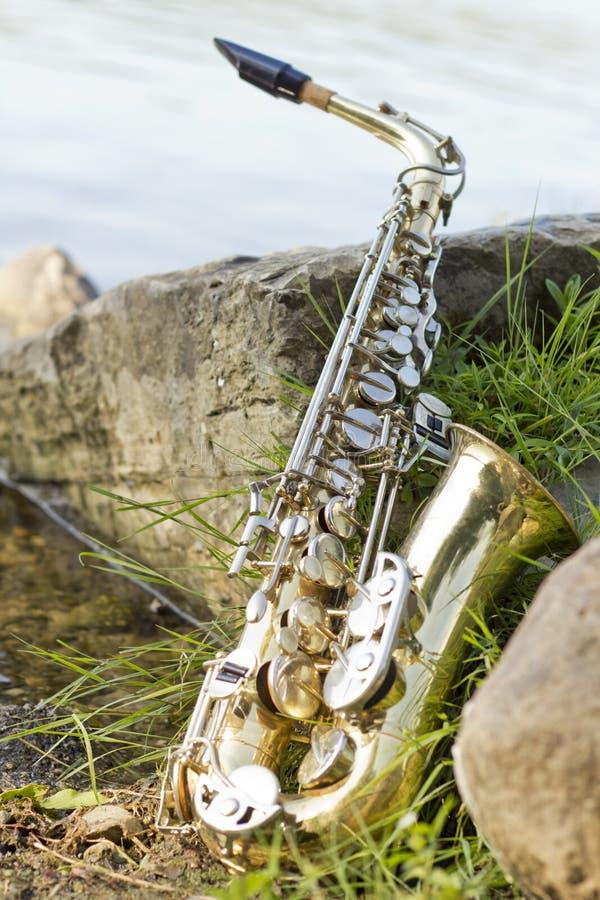 Lago saxophone fotos de archivo libres de regalías