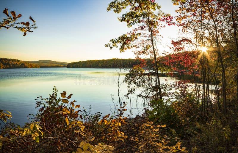 Lago Scranton no por do sol fotografia de stock royalty free