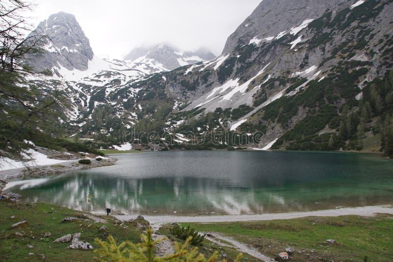 Lago Seebensee foto de stock royalty free