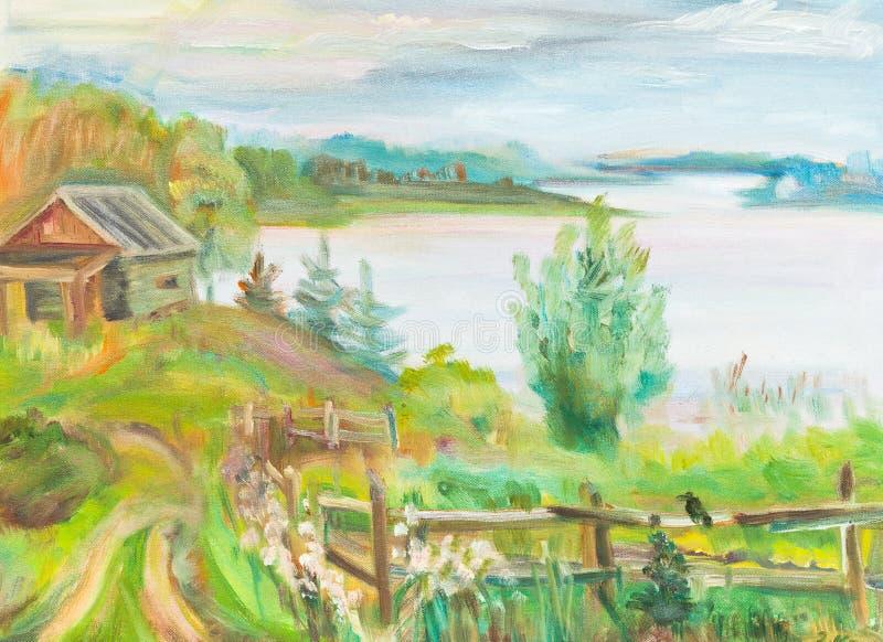 Lago Seliger ilustração stock