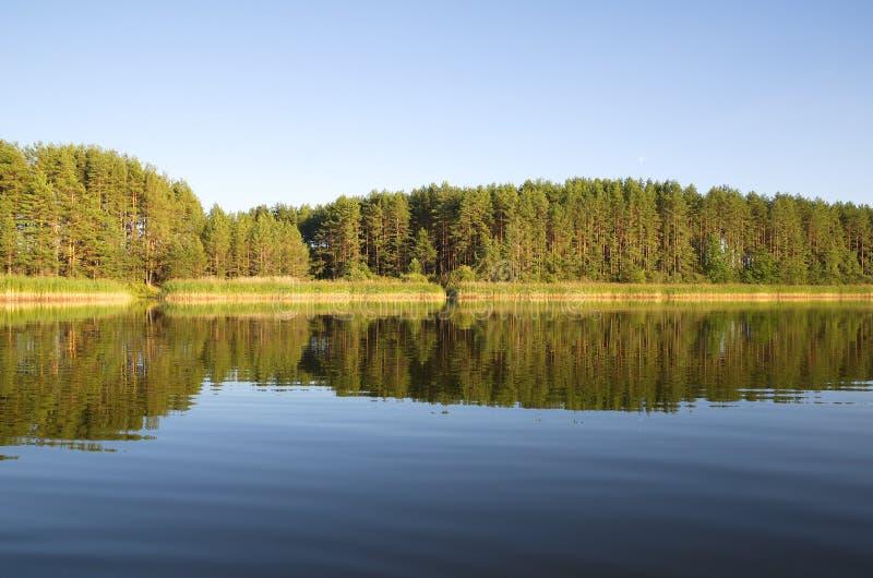 Lago Seliger al tramonto immagini stock