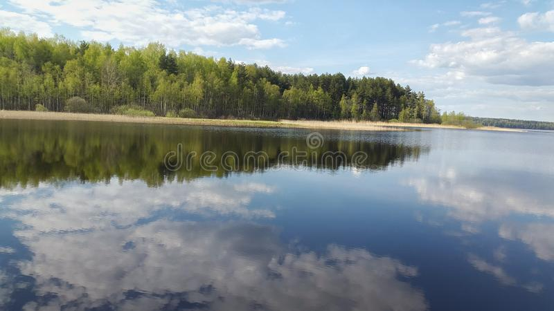 Lago Seliger em Rússia imagens de stock royalty free