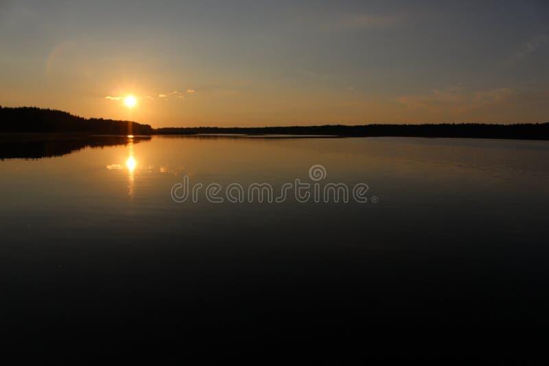 Lago Seliger, Russia fotografia stock libera da diritti
