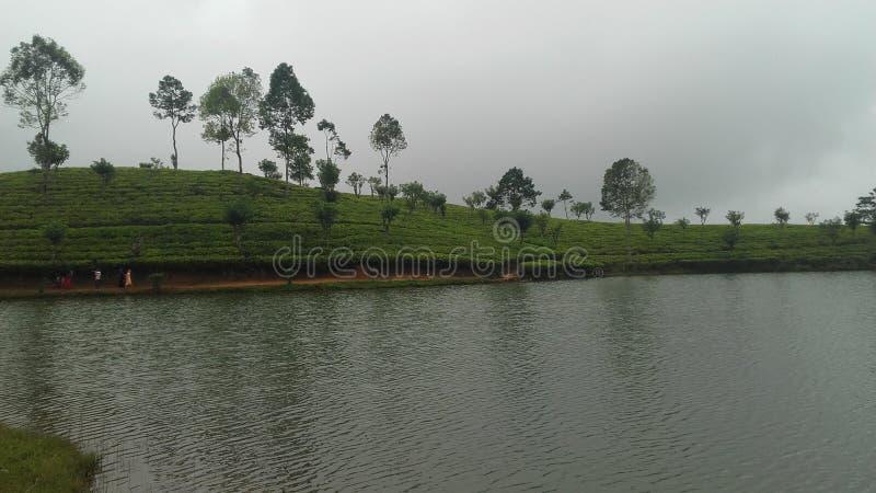Lago Sembuwatta, proprietà di Elkaduwa, Sri Lanka immagini stock libere da diritti
