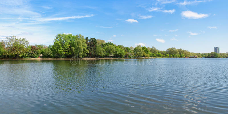 Lago serpentino em Londres foto de stock