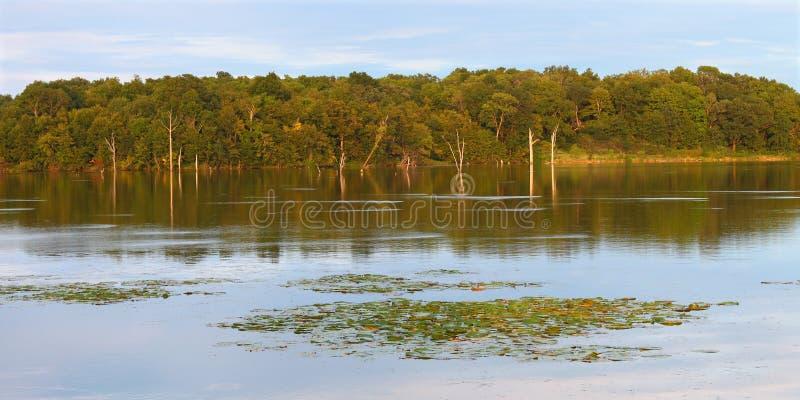 Lago Shabbona em Illinois do norte fotos de stock royalty free