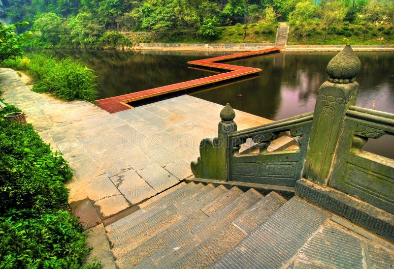 Lago Shan di Wudang fotografia stock libera da diritti