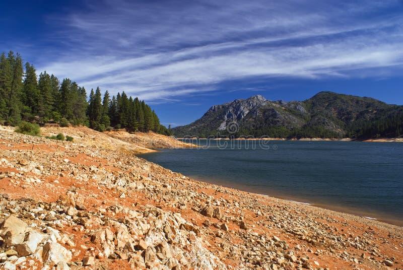 Lago Shasta fotografia stock libera da diritti