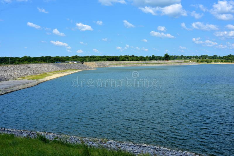 Lago Shelbyville, Illinois fotografia de stock