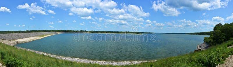 Lago Shelbyville, panorama di Illinois fotografie stock