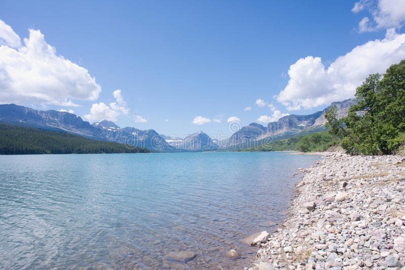 Lago Sherburne imagen de archivo libre de regalías