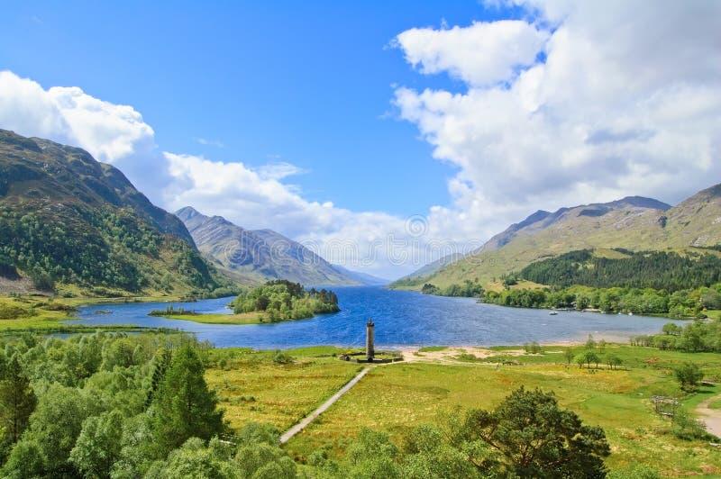 Lago Shiel del Loch di Glenfinnan. Altopiani Scozia fotografia stock