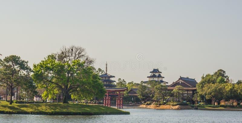 Lago showcase do mundo de Epcot fotografia de stock royalty free