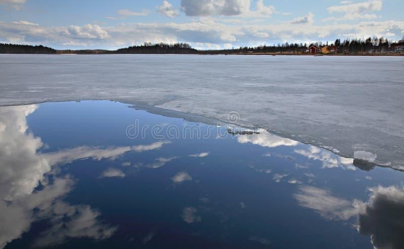 Lago Siljan in Mora sweden immagine stock