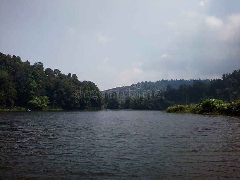 Lago SituGunung fotografia stock
