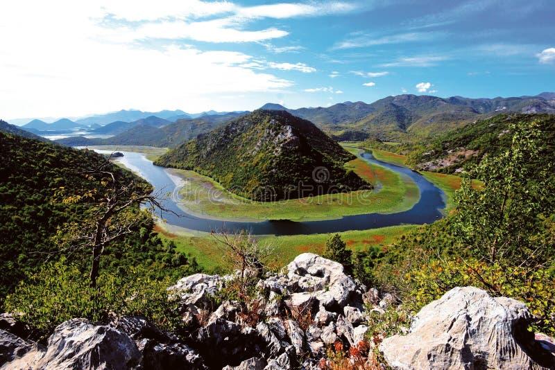 Lago Skadar fotografie stock libere da diritti