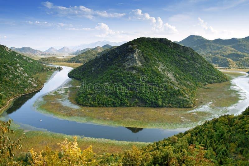 Lago Skadar dal Montenegro fotografia stock libera da diritti