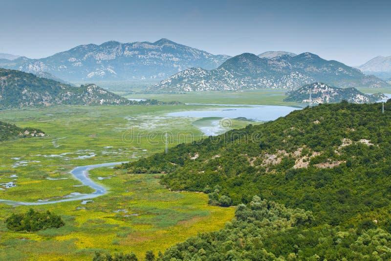 Lago Skadar en Montenegro fotografía de archivo