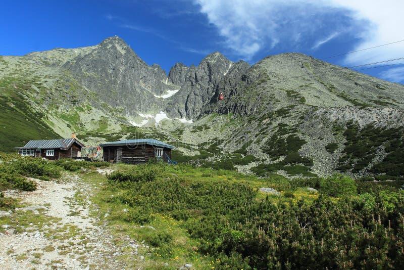 Lago Skalnate nas montanhas altas fotografia de stock