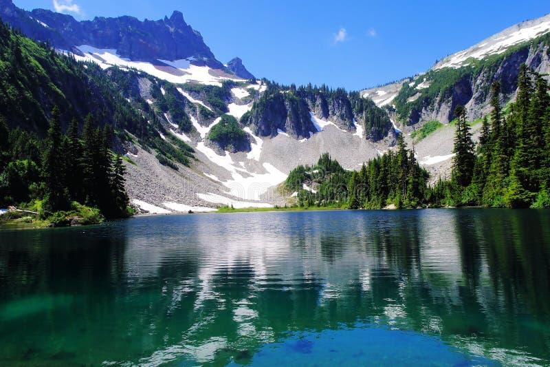Lago snow foto de stock