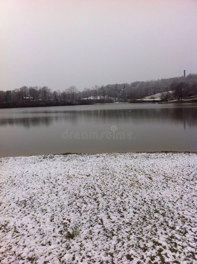 Lago snow imagem de stock royalty free