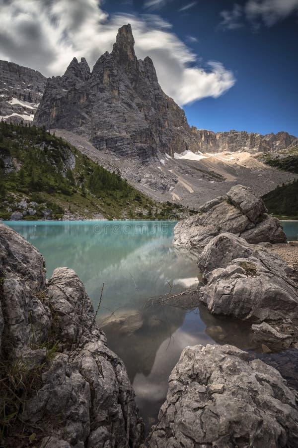 Lago Sorapiss immagini stock