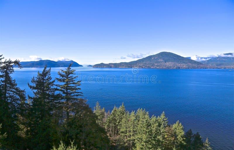 Lago Squamish Canada fotografie stock libere da diritti
