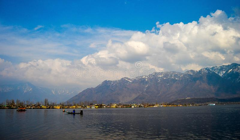Lago Srinagar Dal fotos de stock royalty free