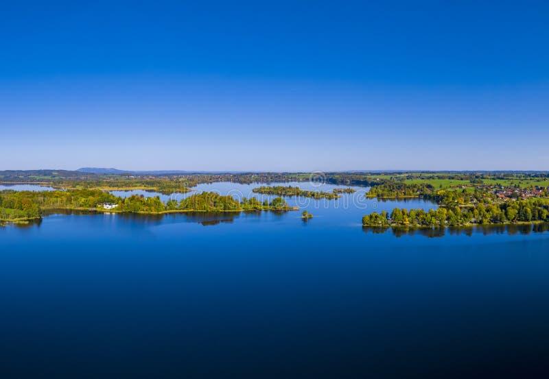 Lago Staffelsee cerca de Murnau, Baviera, Alemania fotografía de archivo