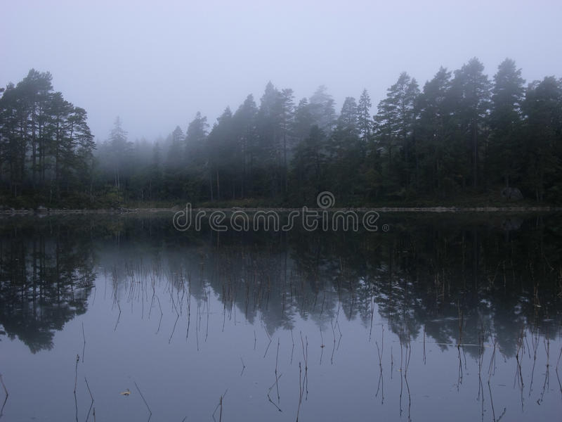 Lago Stora Trehörnigen, parque nacional de Tiveden imagens de stock royalty free