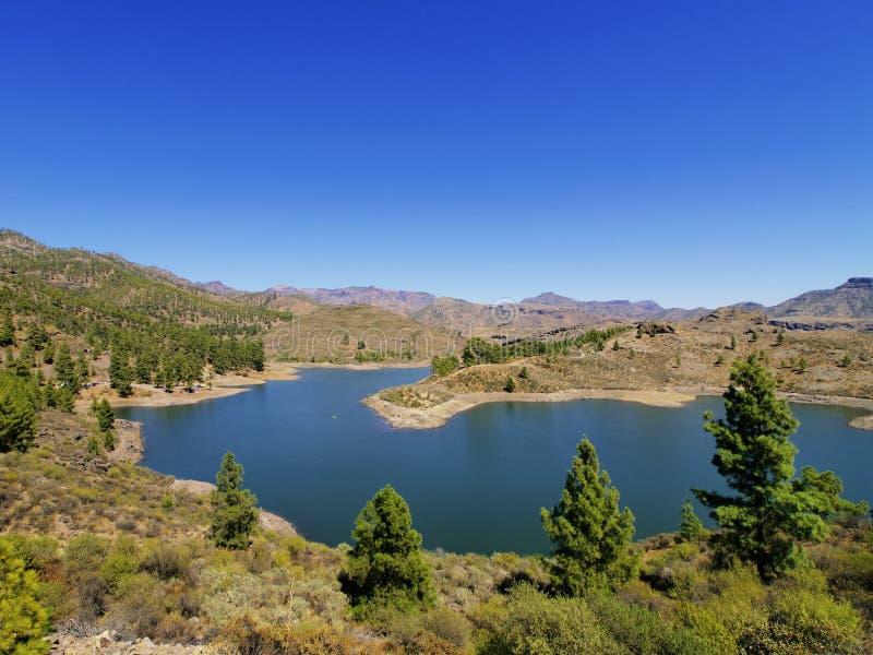 Lago su Gran Canaria fotografie stock libere da diritti