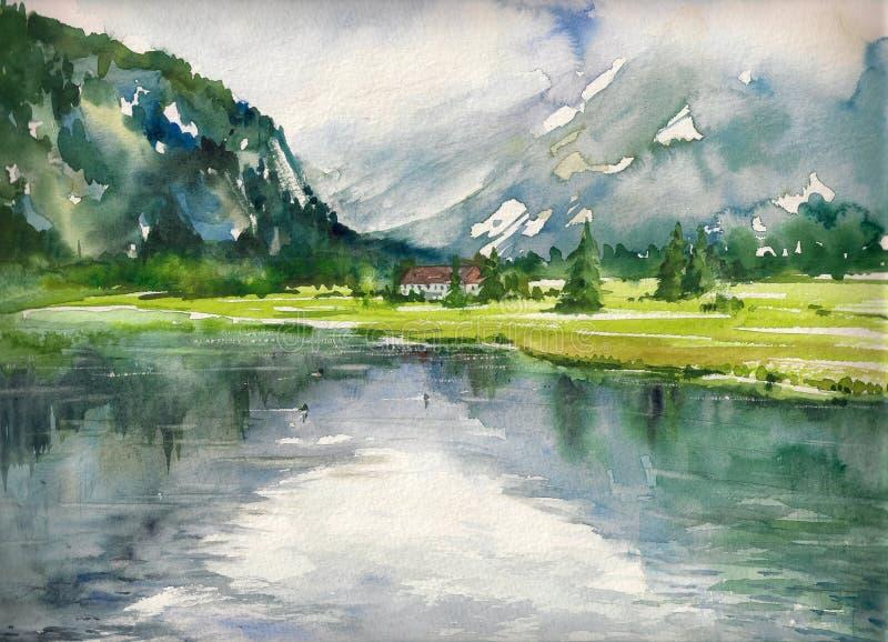 Lago summer ilustração royalty free