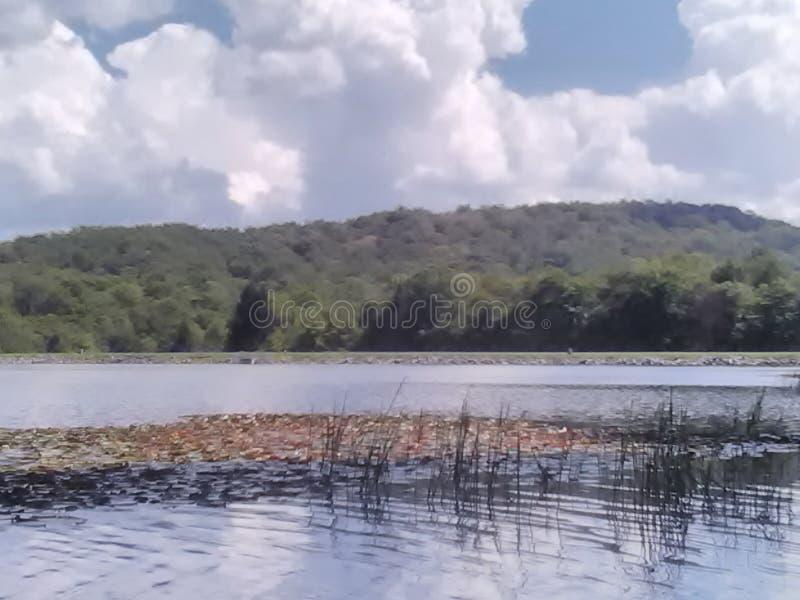Lago summit immagini stock