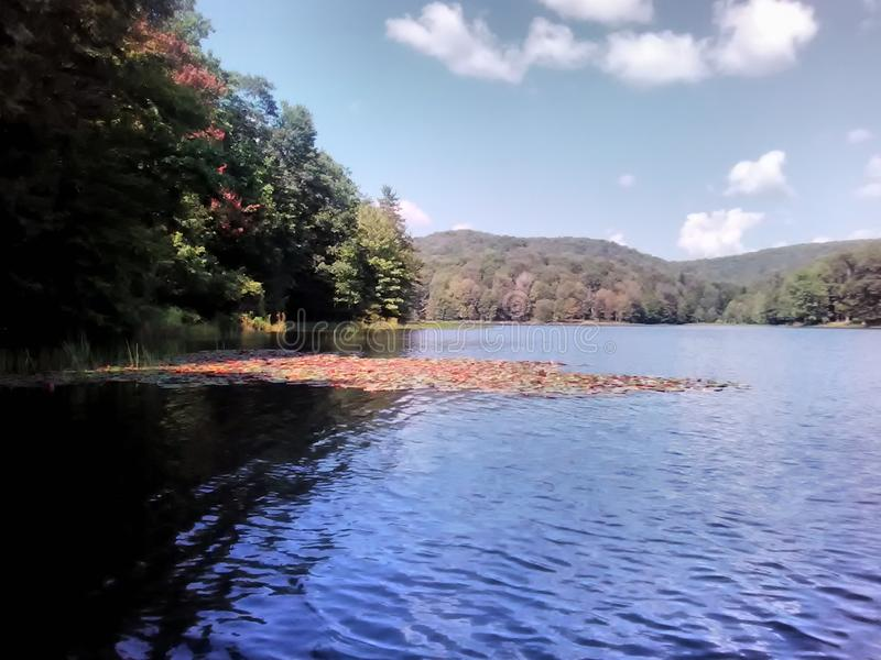 Lago summit immagine stock libera da diritti