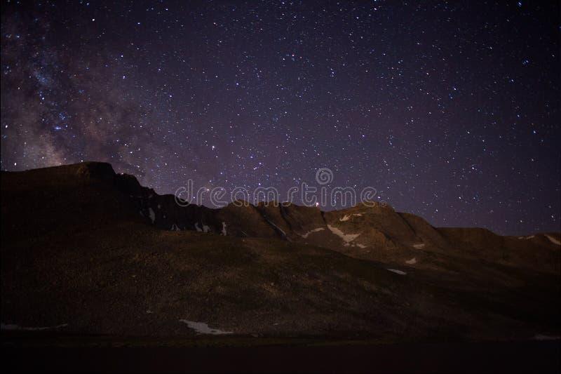 Lago summit sul Mt evans fotografia stock
