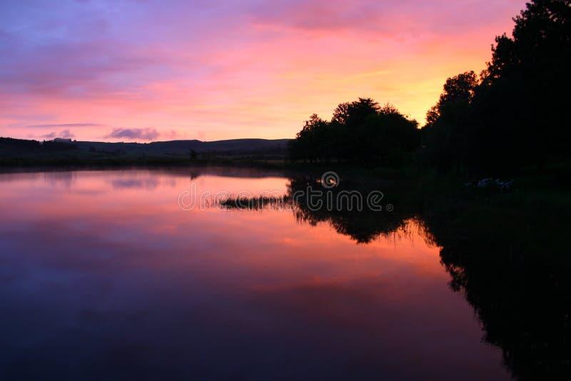 Lago sunrise fotos de archivo
