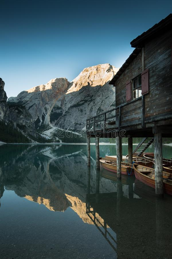 Lago sunrise do braie imagem de stock