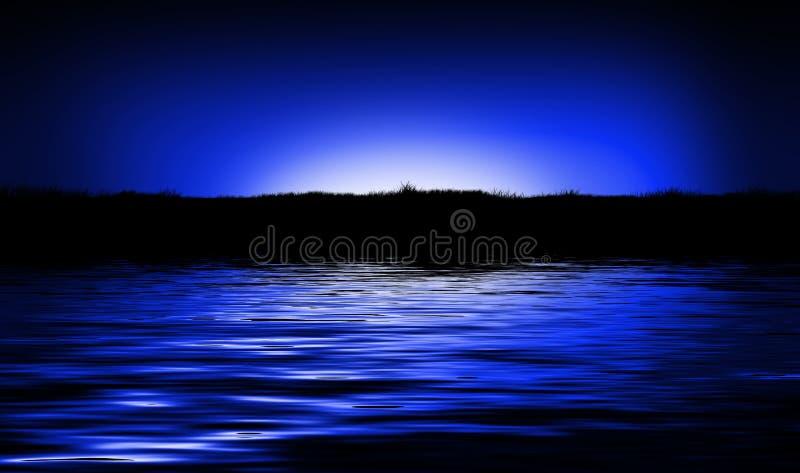 Lago sunset immagine stock libera da diritti