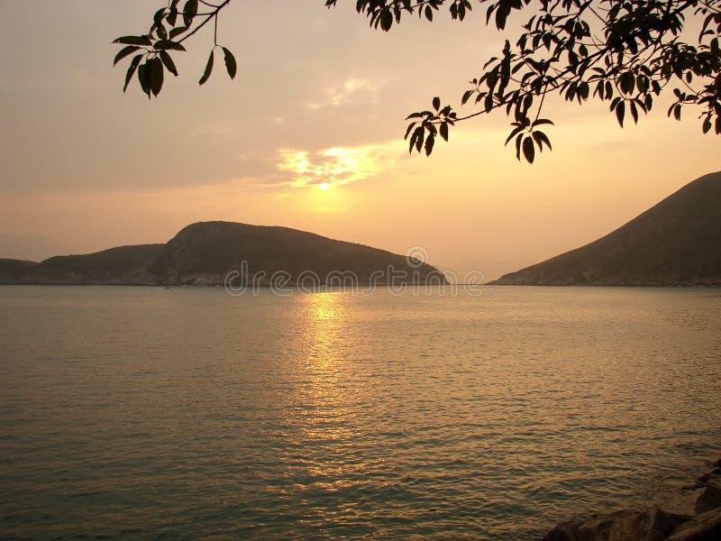 Lago sunset foto de archivo