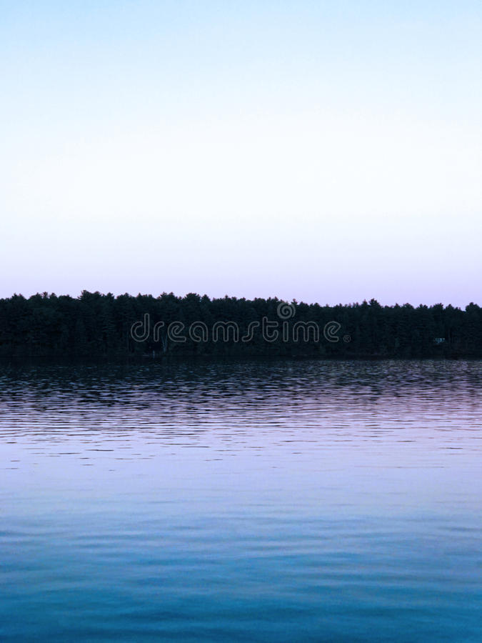 Lago sunset fotografie stock libere da diritti