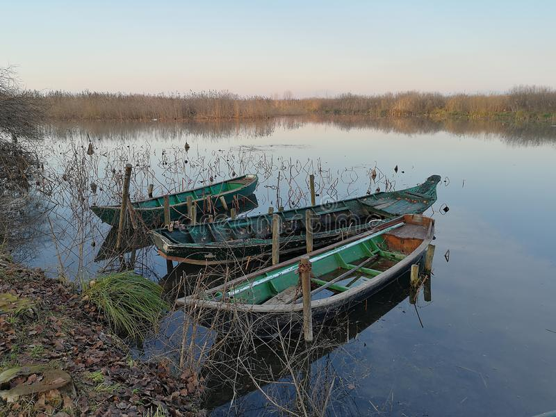 Lago superior parco del Mincio Mantova Itália fotografia de stock