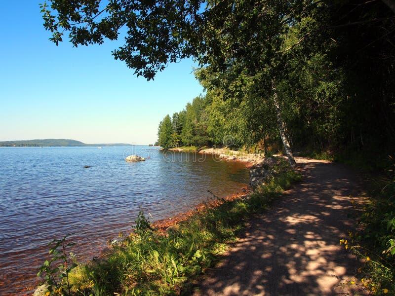 Lago Svezia Siljan fotografie stock libere da diritti