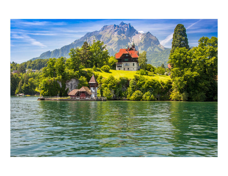 Lago Svizzera lucerne fotografia stock