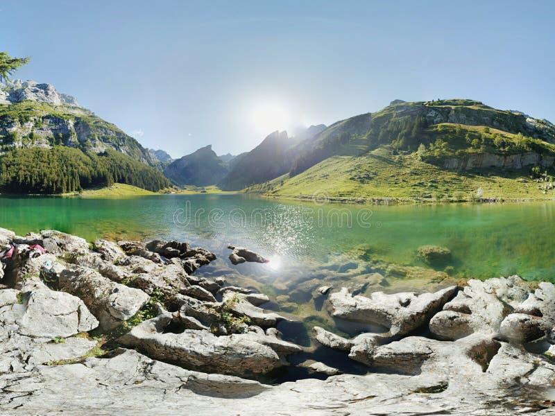 Lago Svizzera Seealpsee fotografia stock