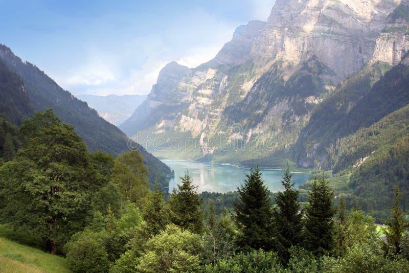 Lago svizzero Klontal fotografie stock