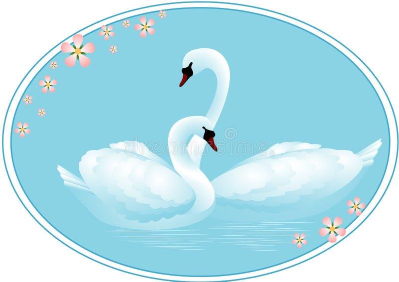 Lago swan illustrazione vettoriale