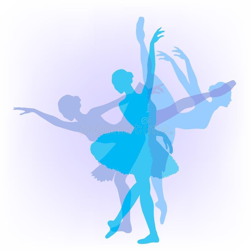 Lago swan di ballo delle tre ballerine royalty illustrazione gratis