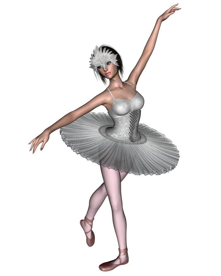 Lago swan - principessa Odette royalty illustrazione gratis