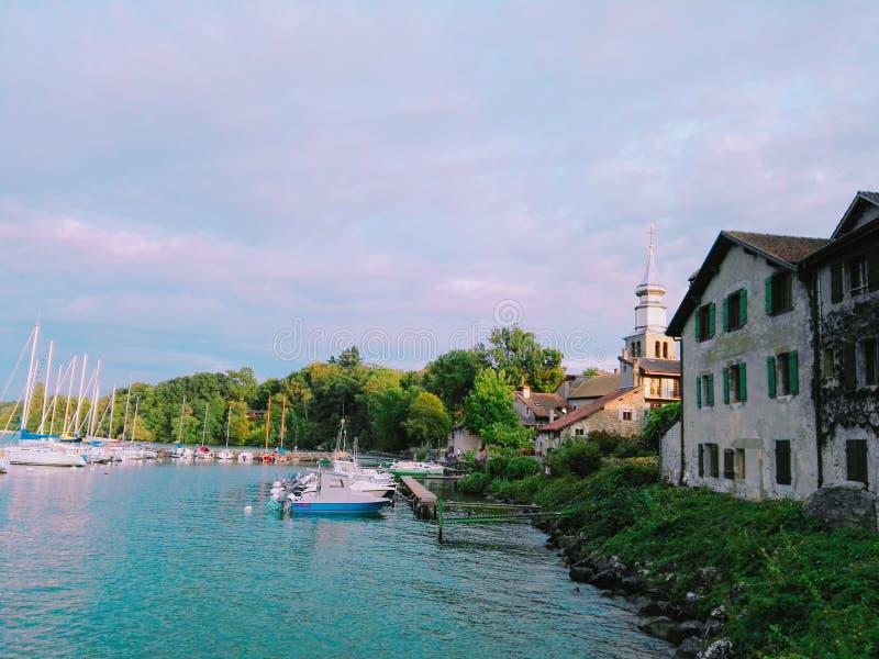 Lago switzerland & x28; avoar& x29; fotografie stock